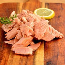 Obrázek Divoký losos keta, kousky vařeného filetu, 200g