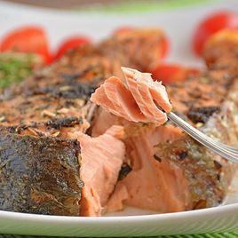 Obrázek Losos keta, steak 300 g - marinovaný