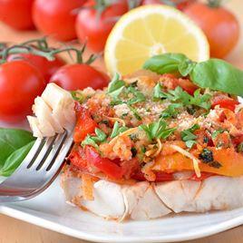 Obrázek Aljašská treska se salsou z rajčat a bazalky 400 g