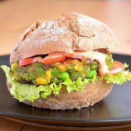 Obrázek Vegetariánský burger s kukuřicí a hráškem 180g
